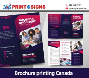 Brochure printing Canada